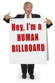 human billboard
